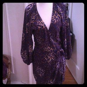Parker silk wrap dress